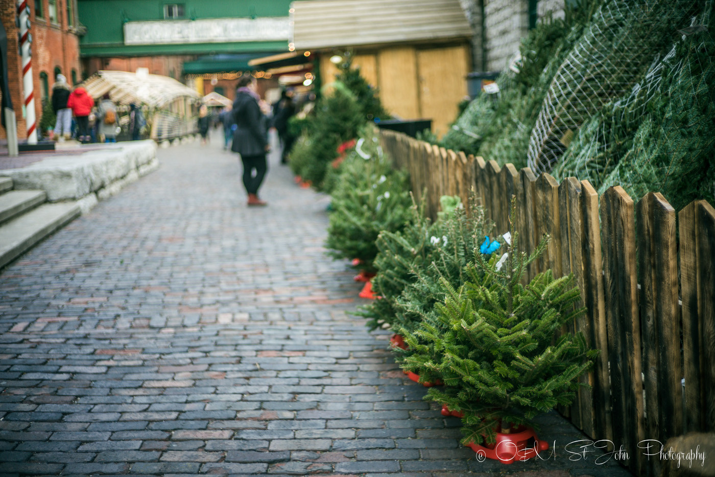 Christmas prep at Toronto Christmas Markets, Canada