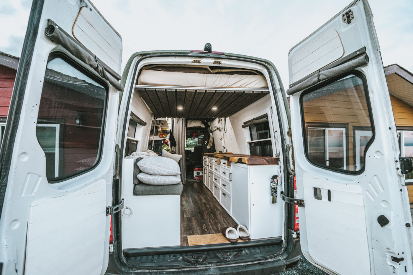 Canada van life build inside-