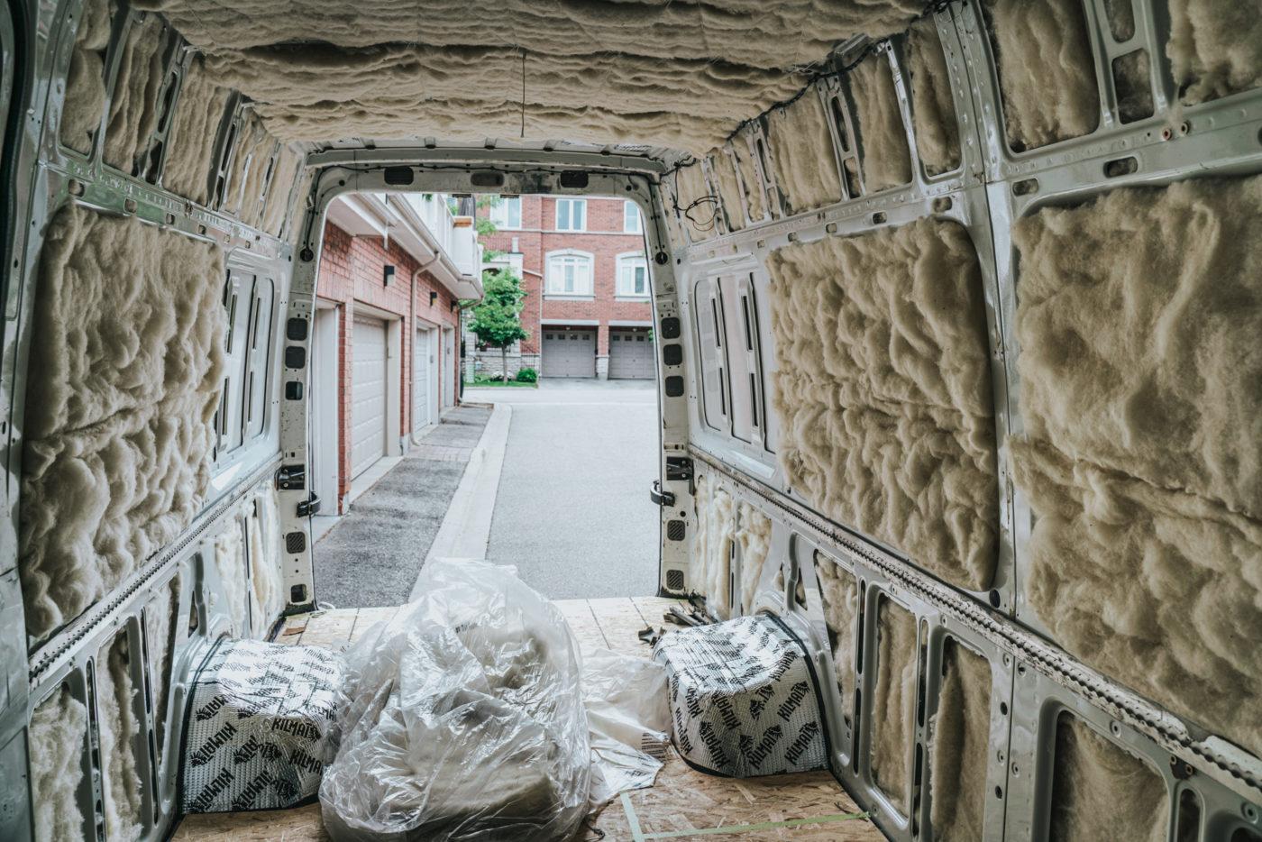 Canada van life sprinter van build insulation-05614