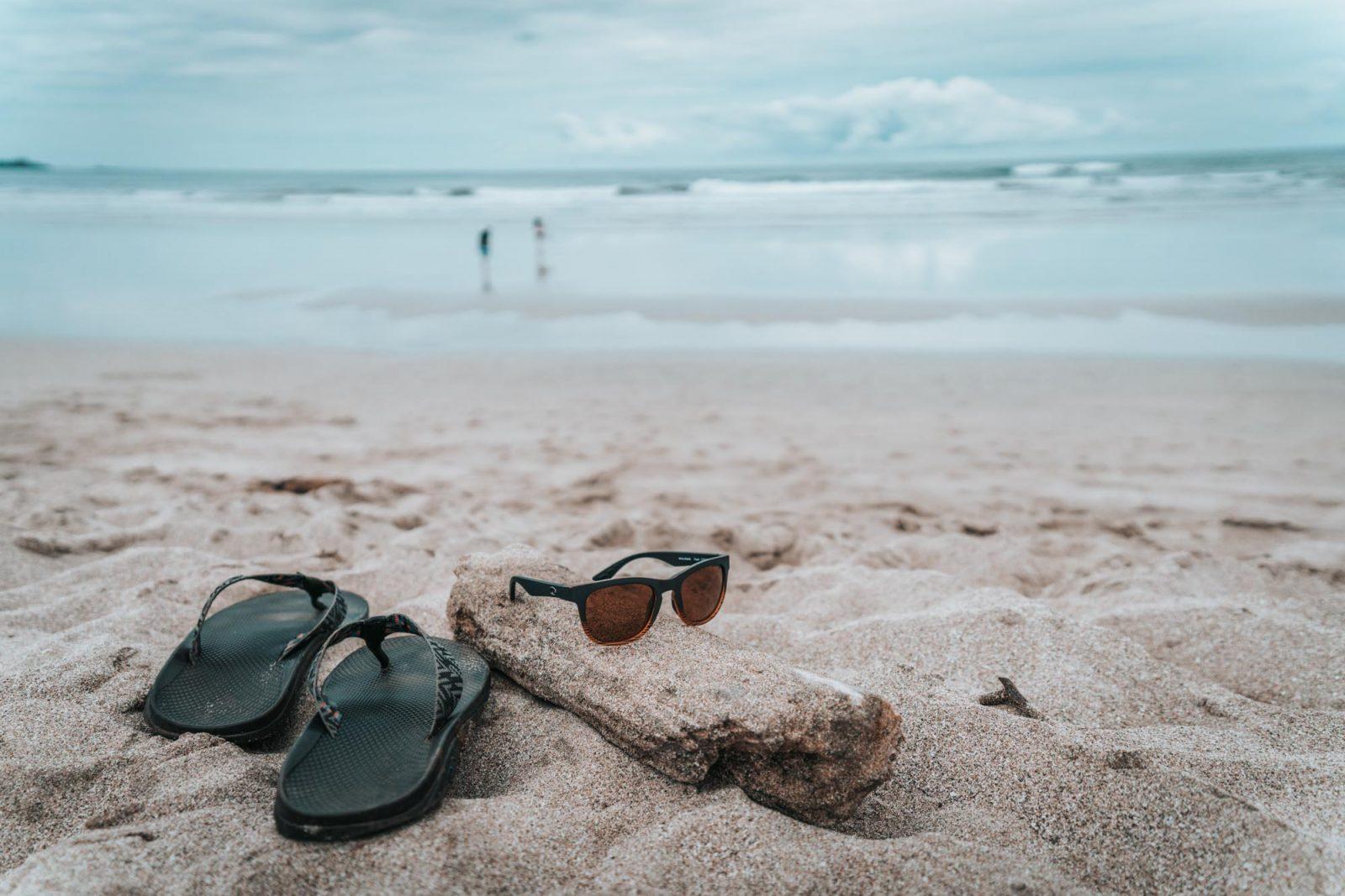 Chao flip flops on the beach