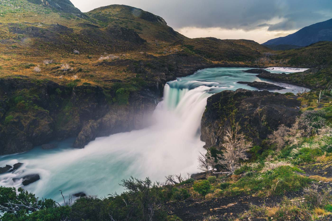 Salto Grande waterfall, Torres del Paine National Park, Patagonia, Chile