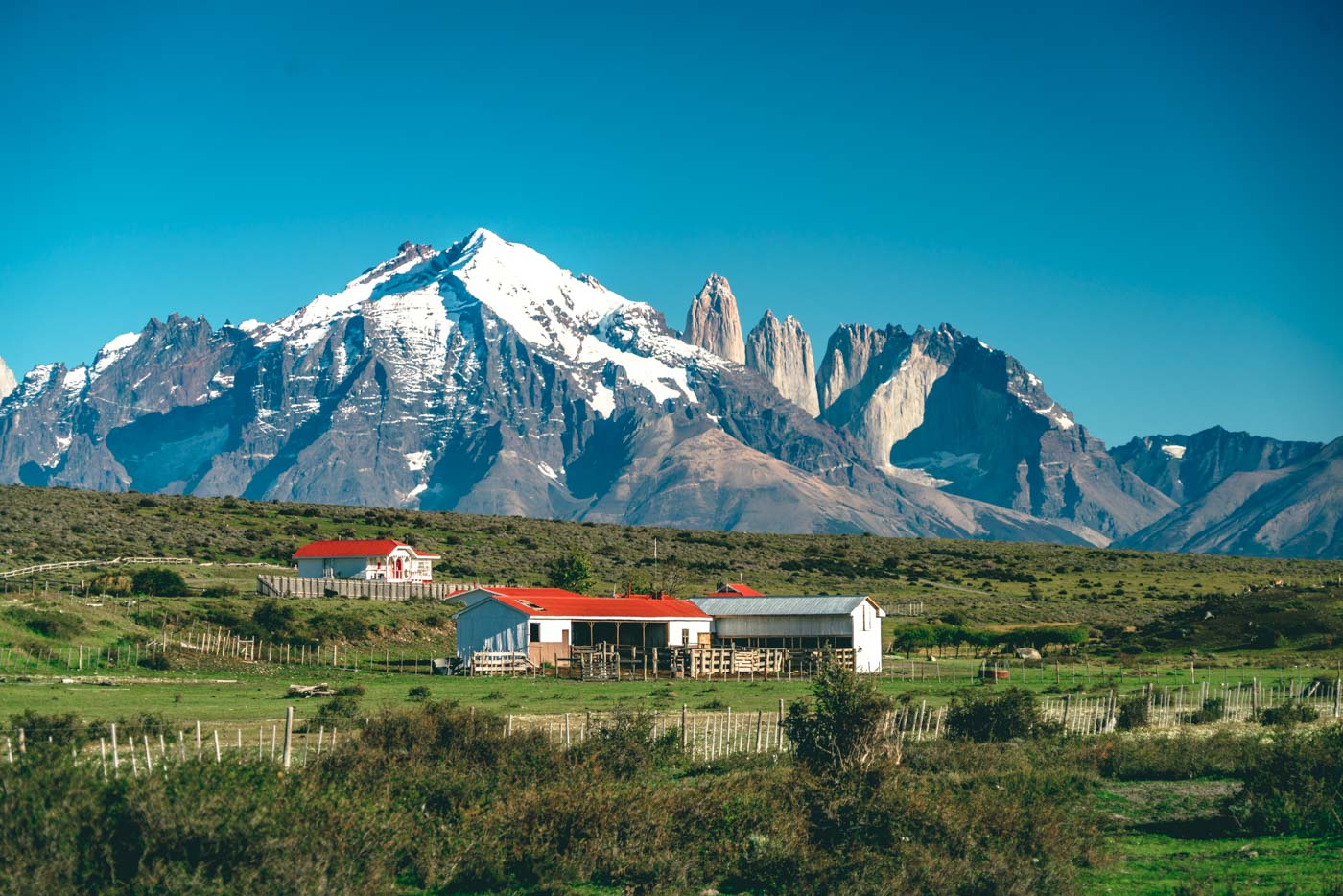 Torres del Paine W Trek Beautiful views of Torres del Paine National Park en route to Baguales. Puerto Natales. Patagonia. Chile