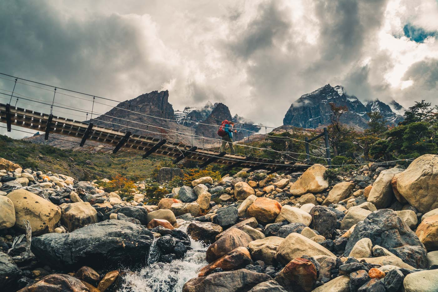 On the trail towards Los Cuernos, Torres del Paine National Park