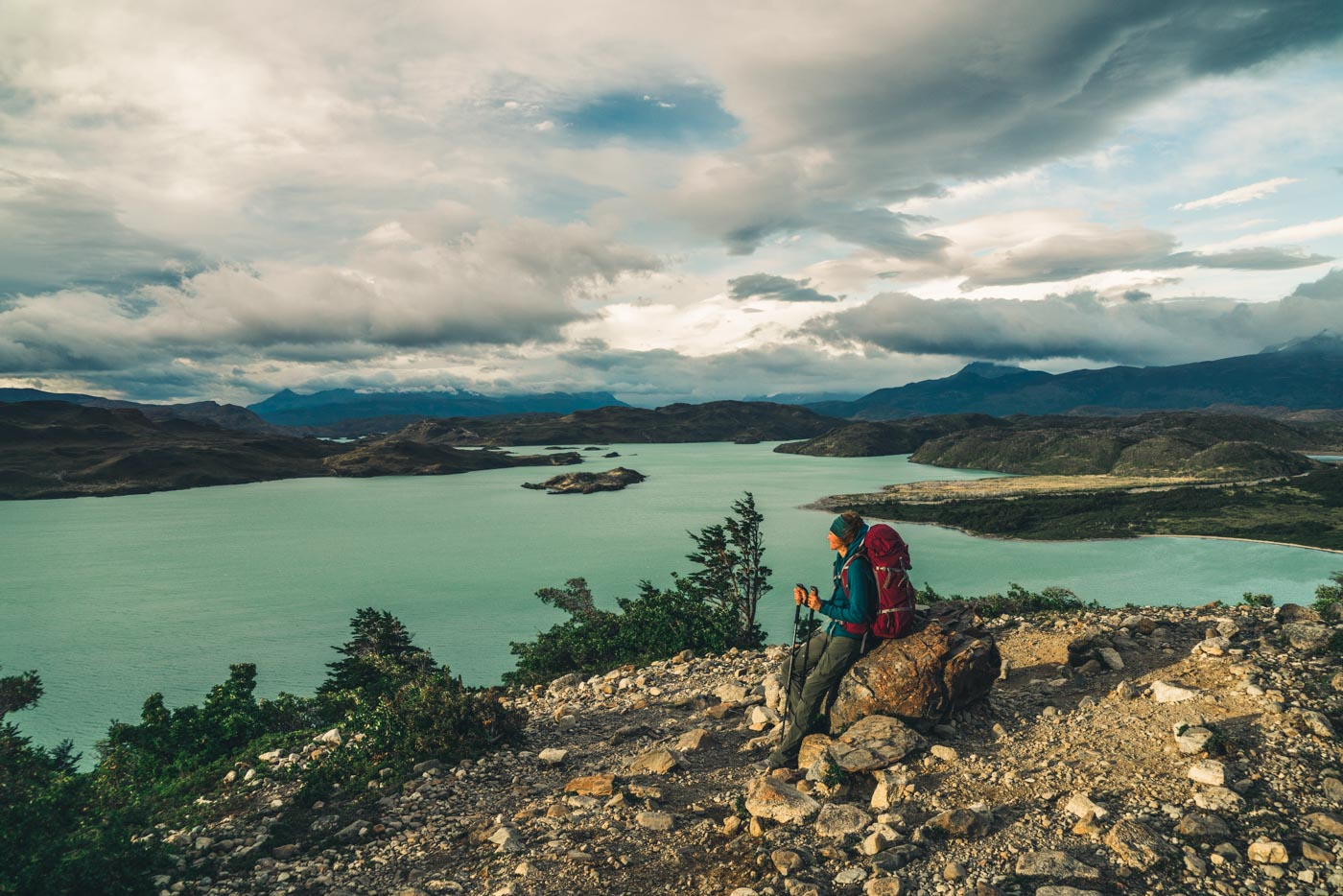 Overlooking Lago Nordenskjold en route to the French Valley, Torres del Paine National Park