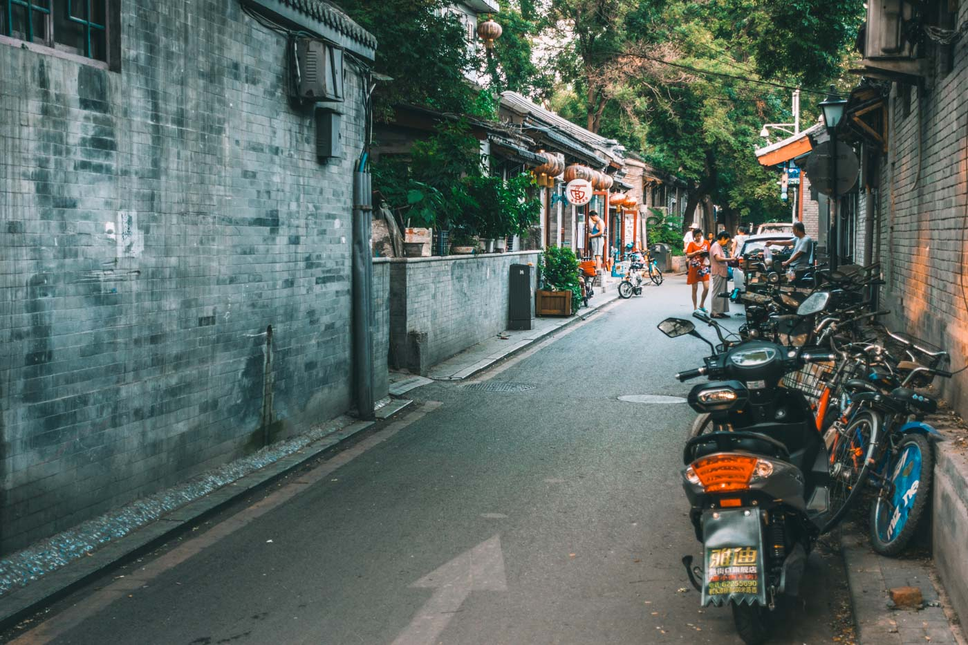 Public toilets an be found everywhere in China, including the hutongs (small residential alleyways)