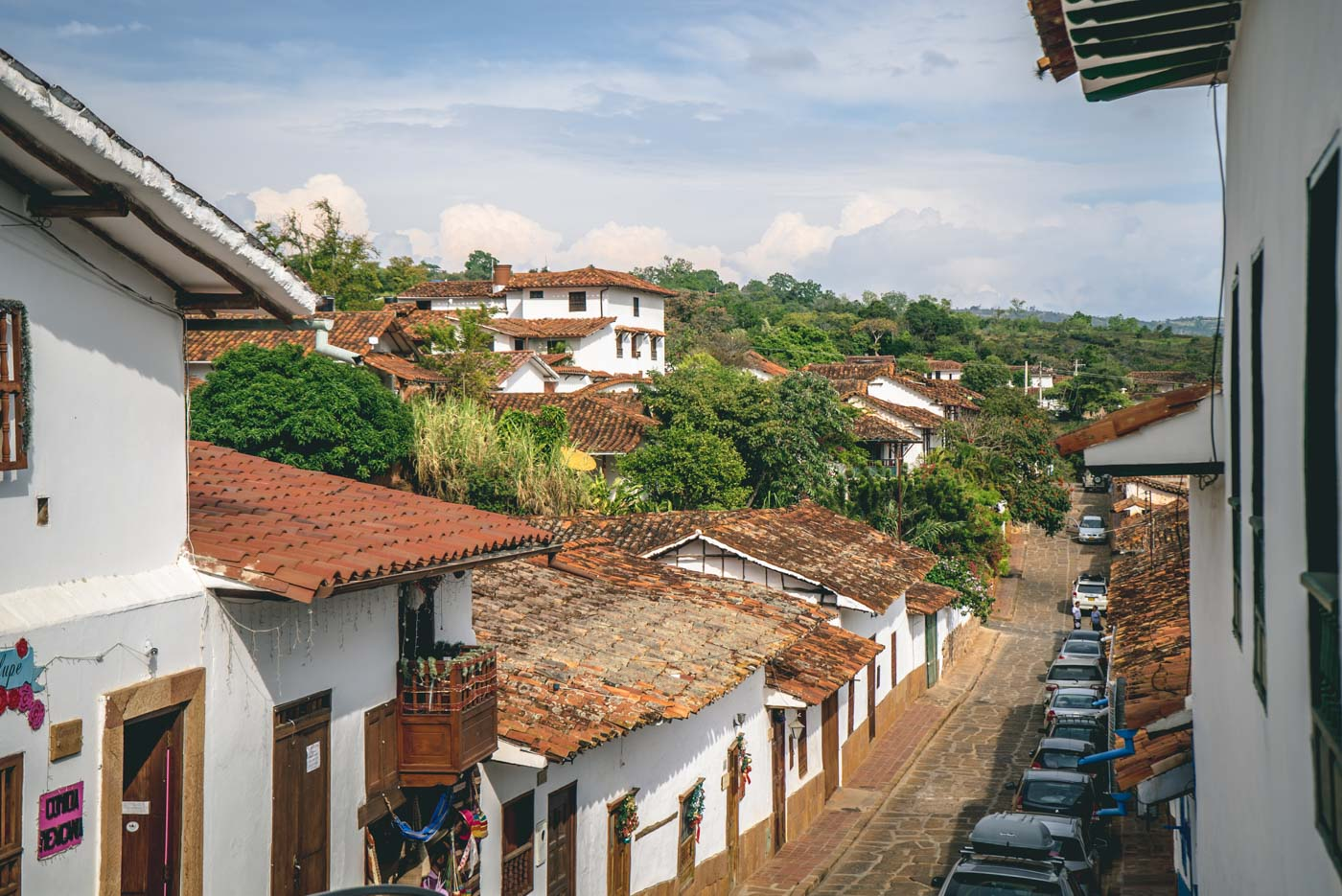 The charming colonial town of Barrichara in Santander, Colombia