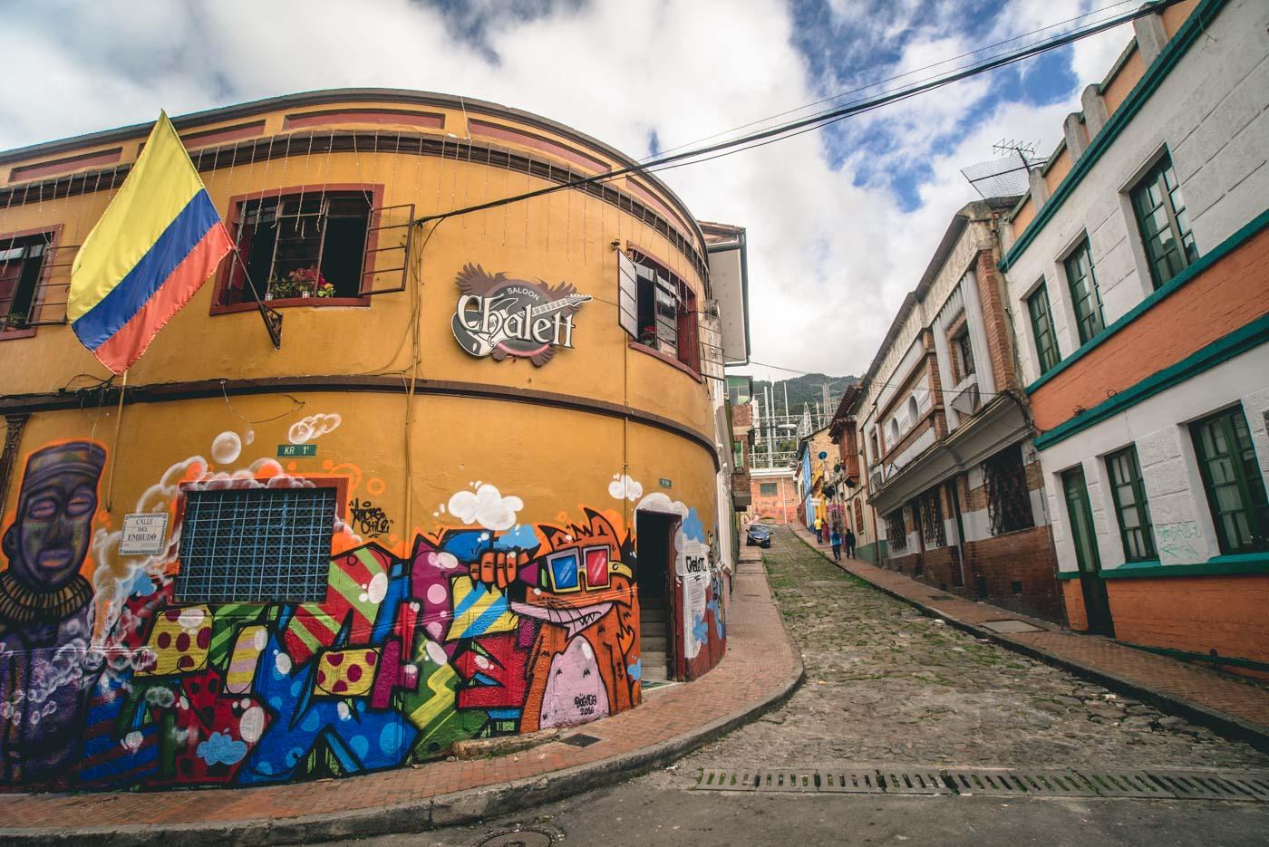 Travel in Colombia: La Candelaria, Historical centre in Bogota, Colombia