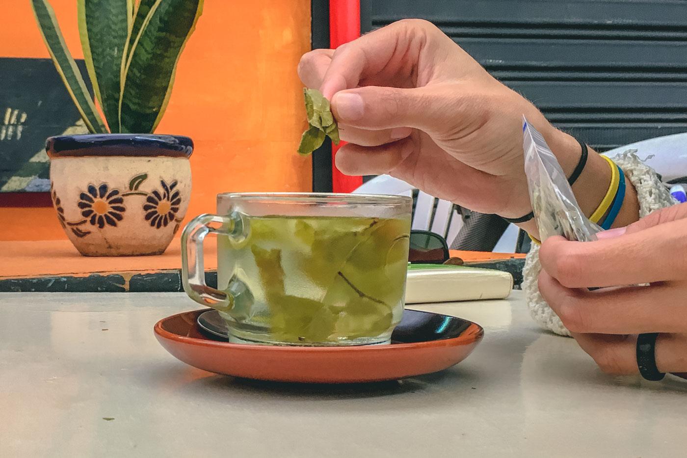 Travel in Colombia: Coca tea in Bogota