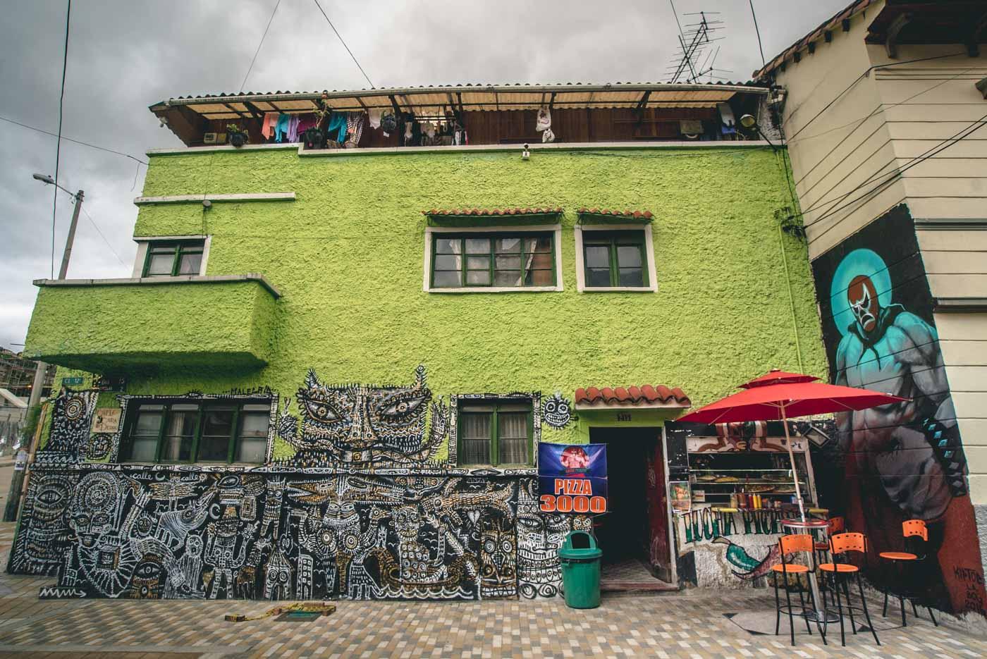 Amazing graffiti art is plentiful in Bogota!