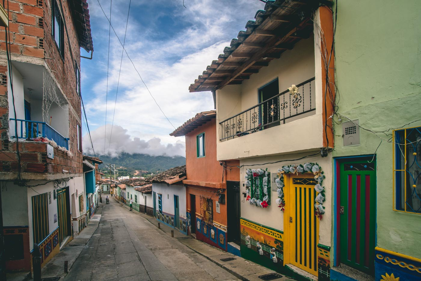 The town of Guatape, Medellin, Colombia