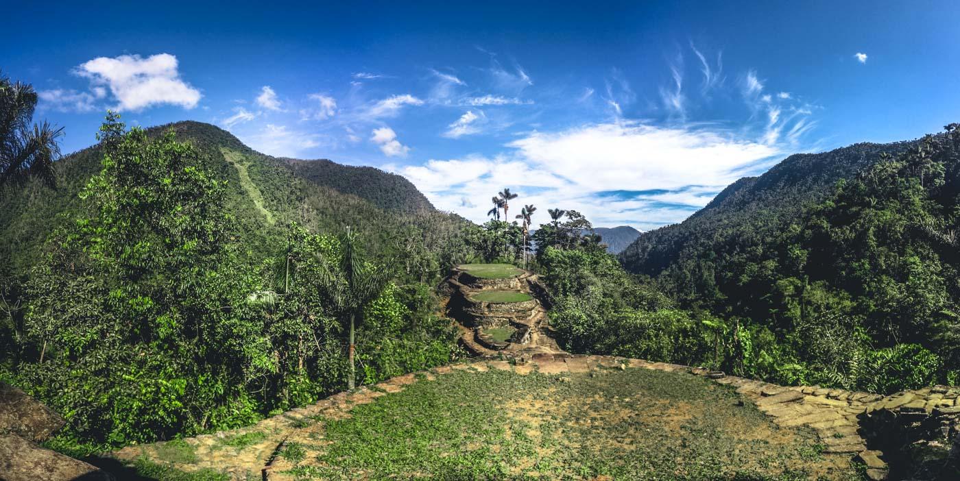 Colombia's answer to Machu Picchu - the ancient ruins of the Lost City (Ciudad Perdida). Santa Marta, Colombia