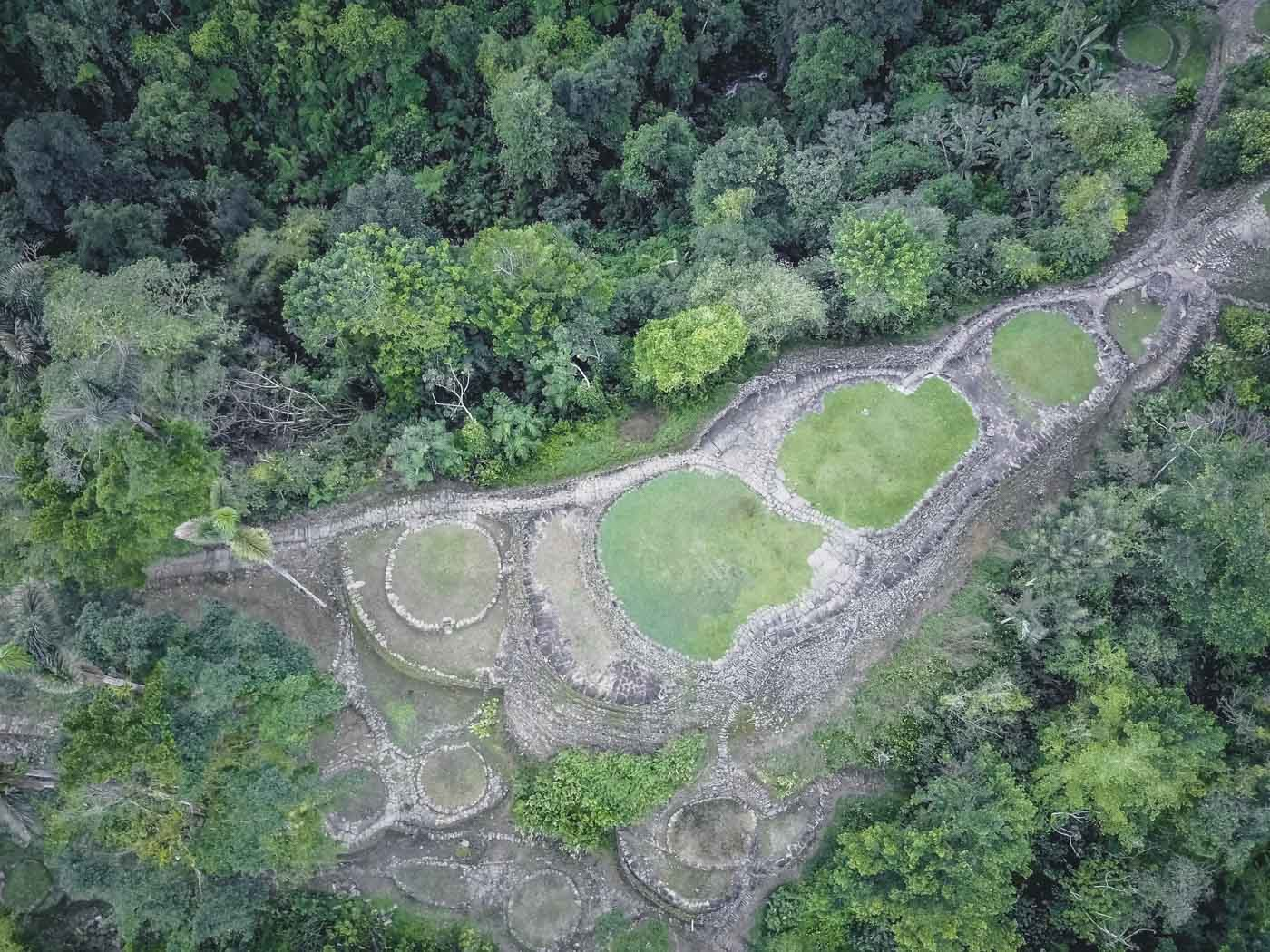 Ancient ruins of the Lost City from above
