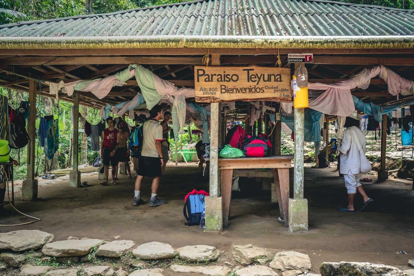 Paraiso Teyuna Camp, Lost City trek
