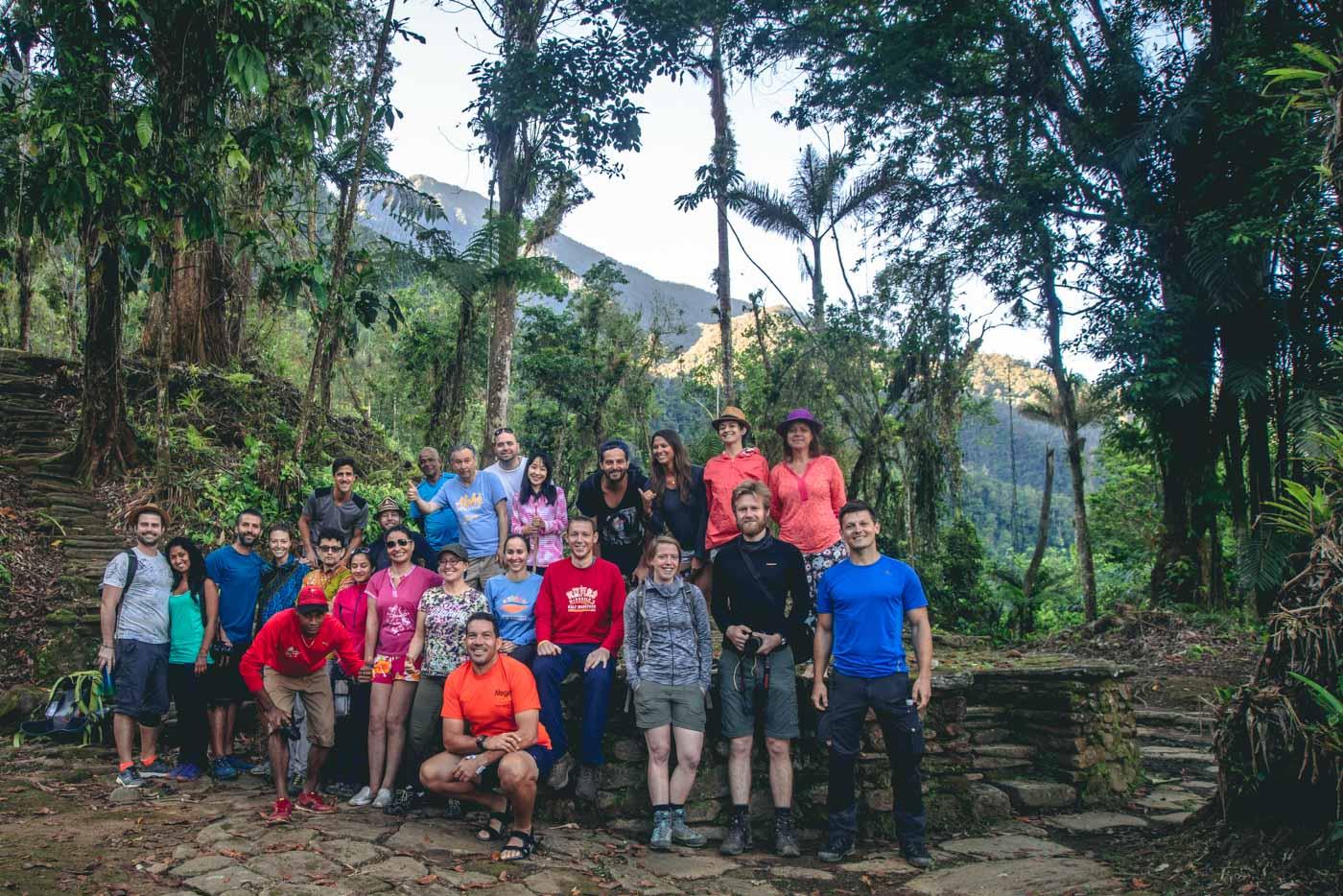 Our Guias y Baquianos Lost City trek family!