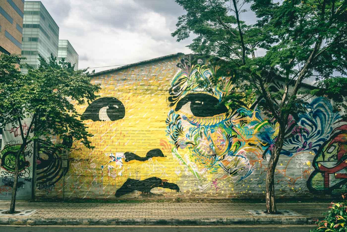 Travel in Colombia: Graffiti in Medellin, Colombia