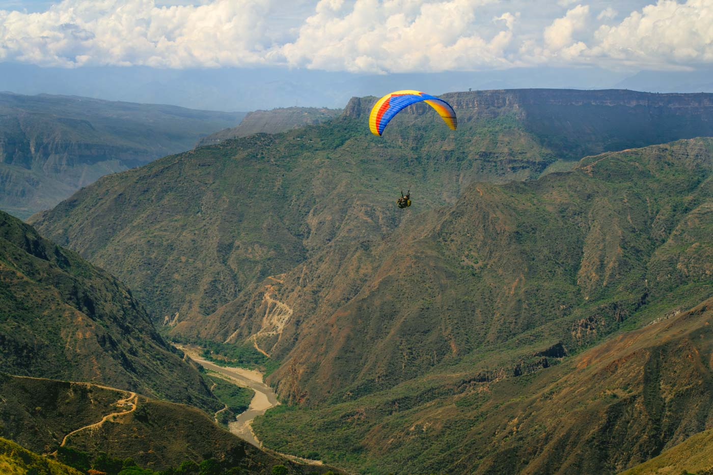 Go to San Gil, Colombia to get your adrenaline fix while in South America
