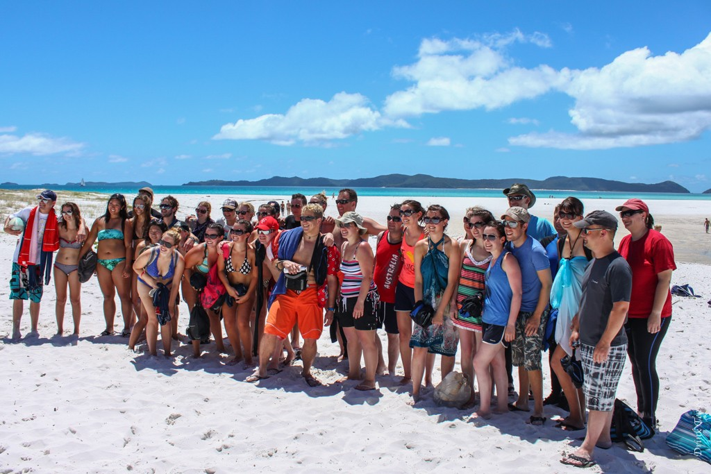 Contiki Australia Group in Whitsundays. Australia