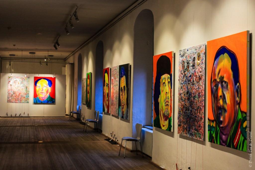 Inside one of Copenhagen's galleries