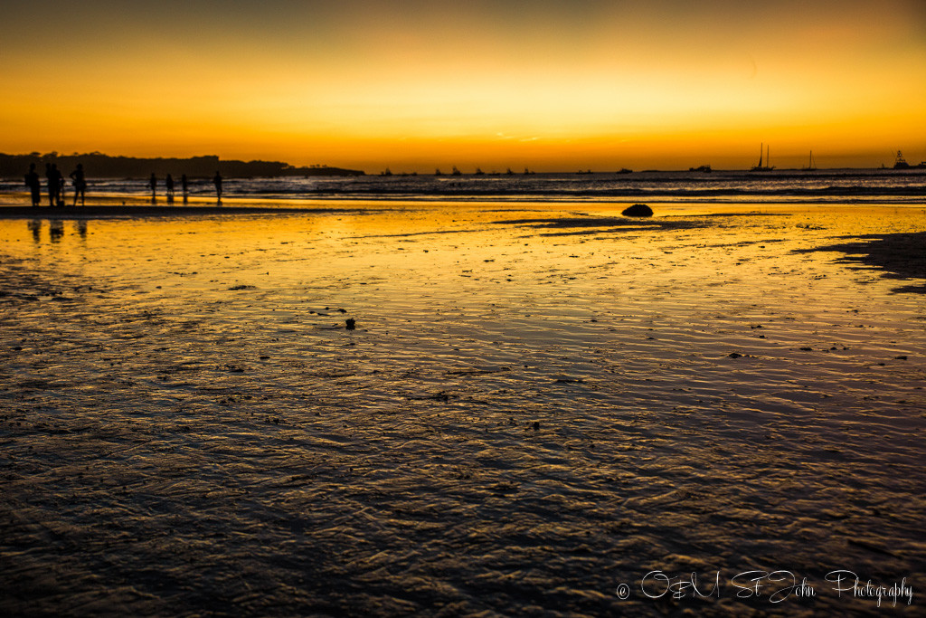 Costa Rica Travel Budget: Sunset in Playa Tamarindo. Guanacaste, Costa Rica