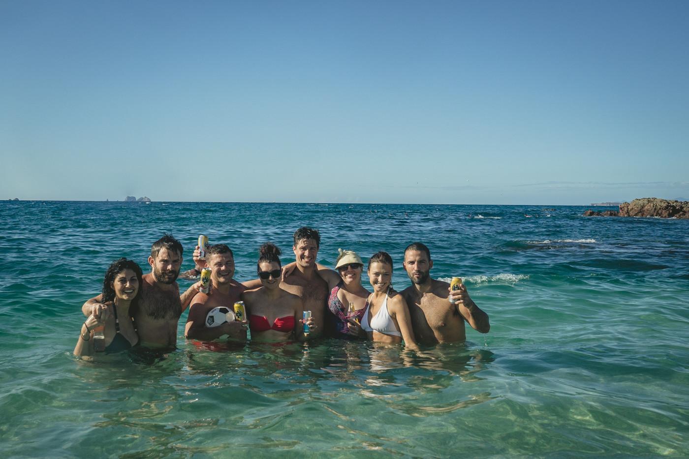 Max & Oksana with friends at Playa del Coco.
