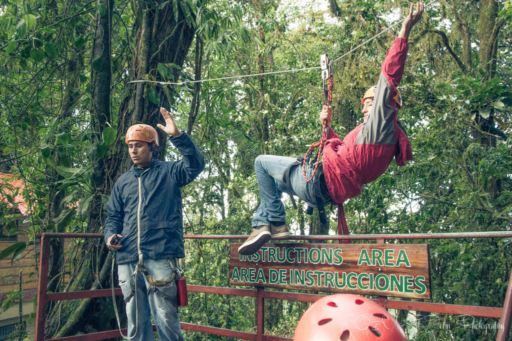 Costa Rica Travel Budget: Zip lining in Costa Rica