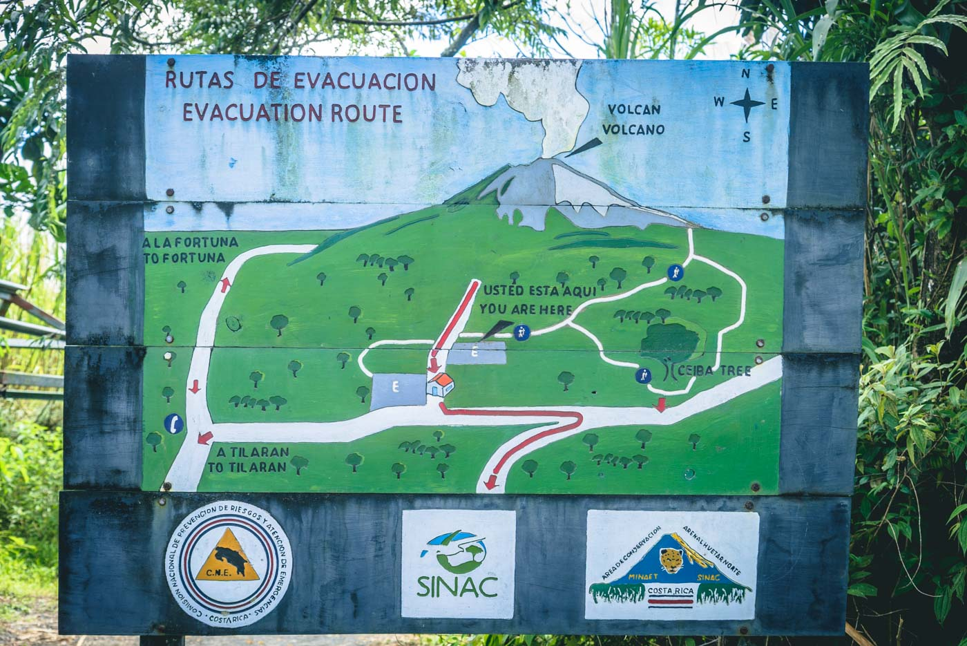 Arenal Volcano Costa Rica: Trail Map