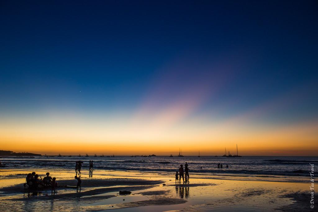 Sunset in Playa Tamarindo. Guanacaste. Costa Rica