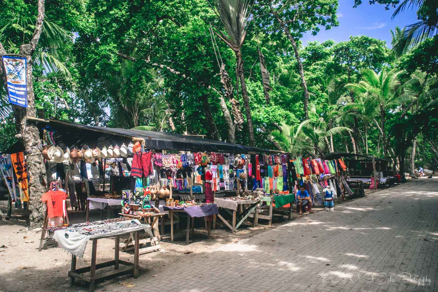 Beach side market in Playa Dominical. Costa Ballena, Costa Rica