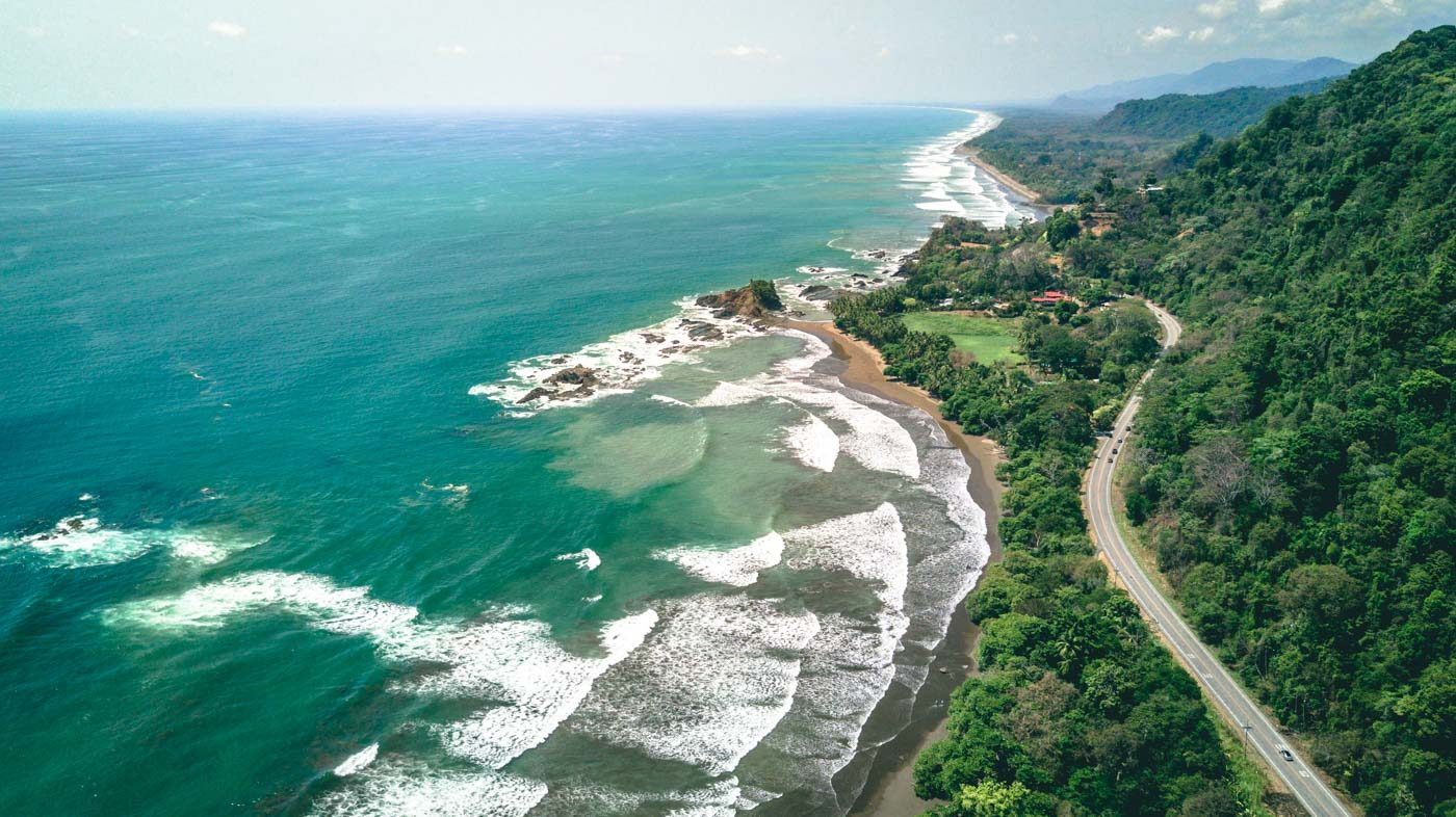 Best Surfing in Costa Rica: Playa Dominical from above