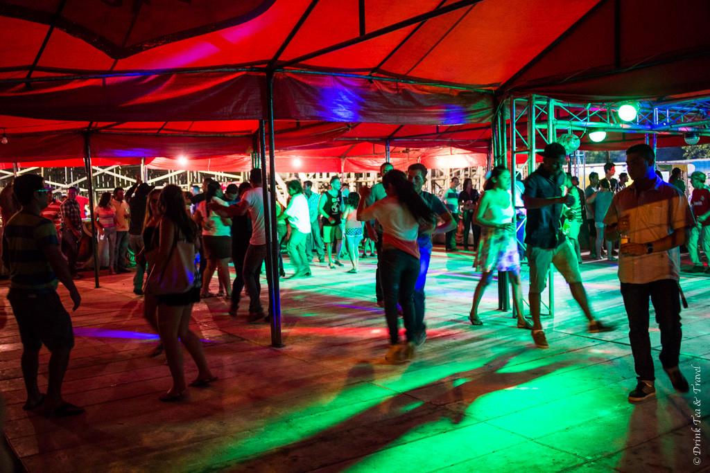Dance floor at Paraiso Fiesta, Guanacaste, Costa Rica