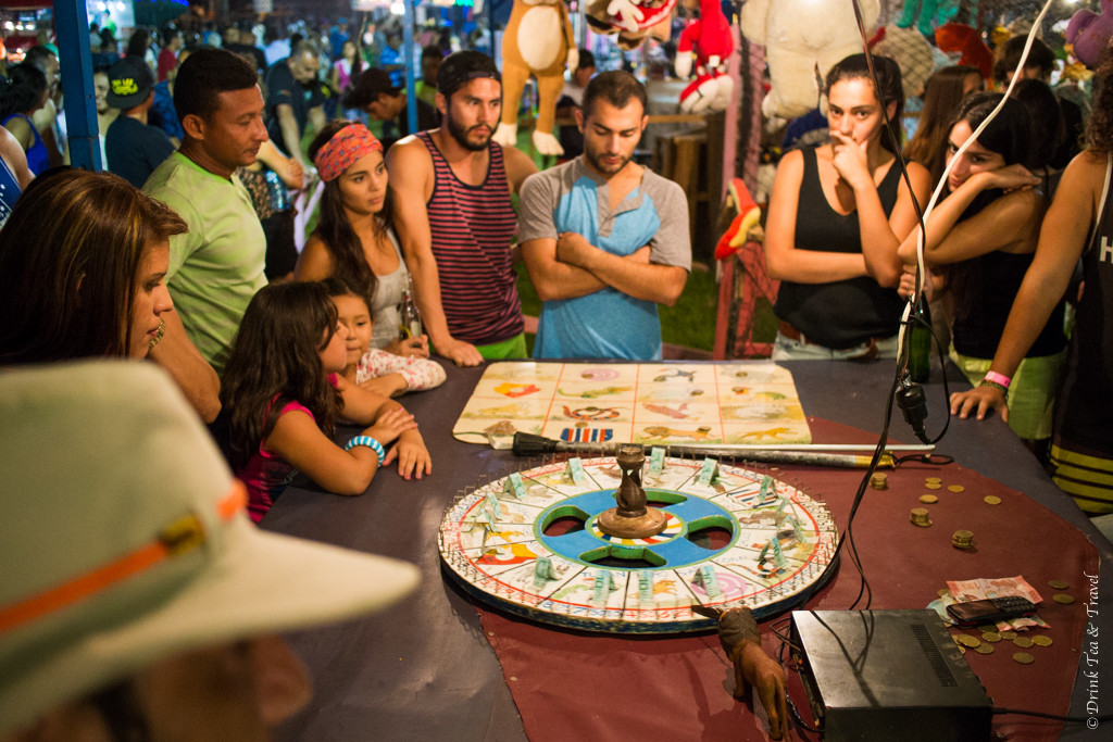 Costa Rican roulette at the Paraiso Fiesta.
