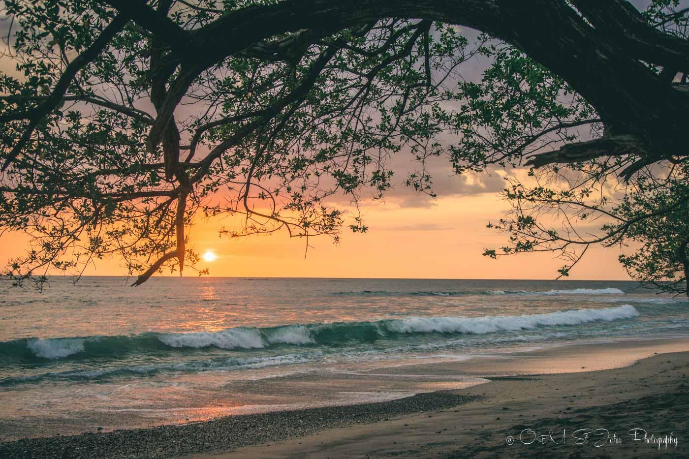 Sunset in Playa LAgartillo, Guanacaste, Costa Rica
