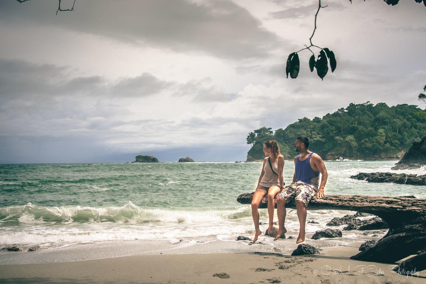 Hanging out at Gemelas Beach in Manuel Antonio National Park
