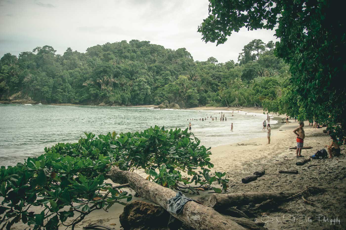 Manuel Antonio: hite sand beach costa rica