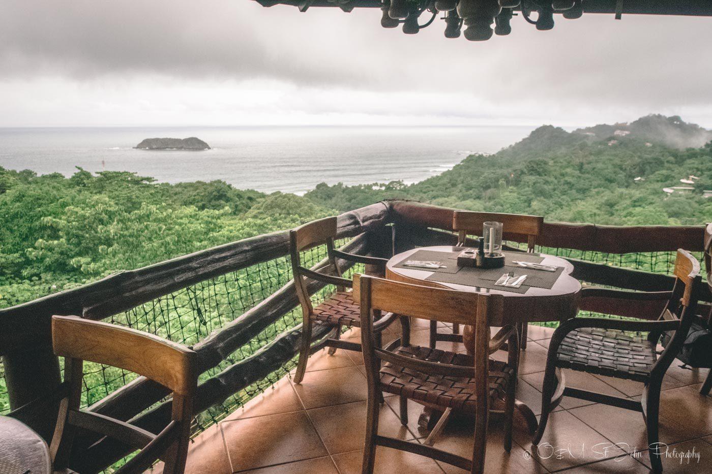 Views from the El Avion Restaurant in Manuel Antonio