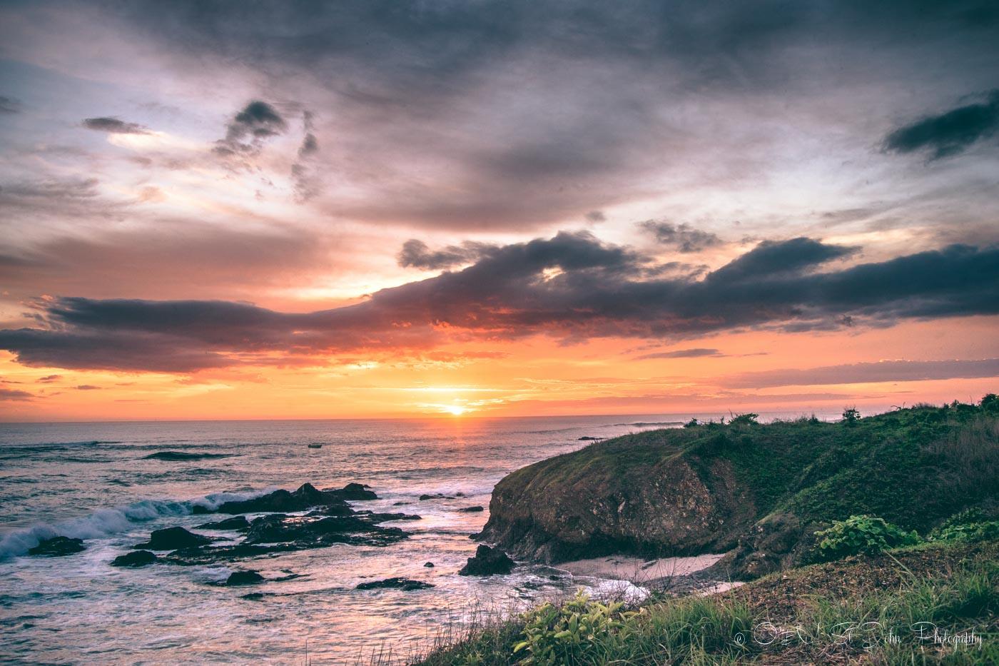 Sunset overlooking Playa Blanca in Guanacaste, Costa Rica