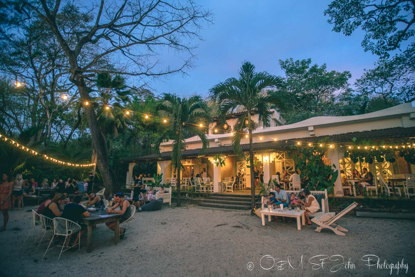 La Luna Restaurant in Playa Pelada. Nosara, Costa Rica