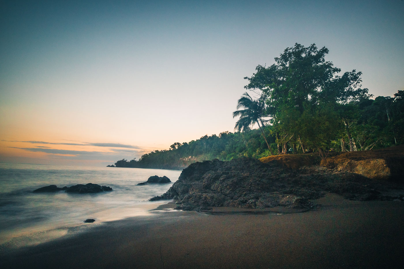 Sunrise at San Pedrillo, Corcovado National Park