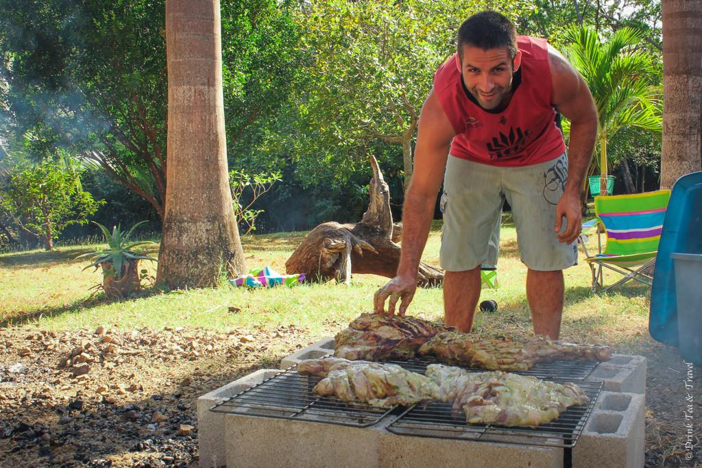 Pig roast in Costa Rica