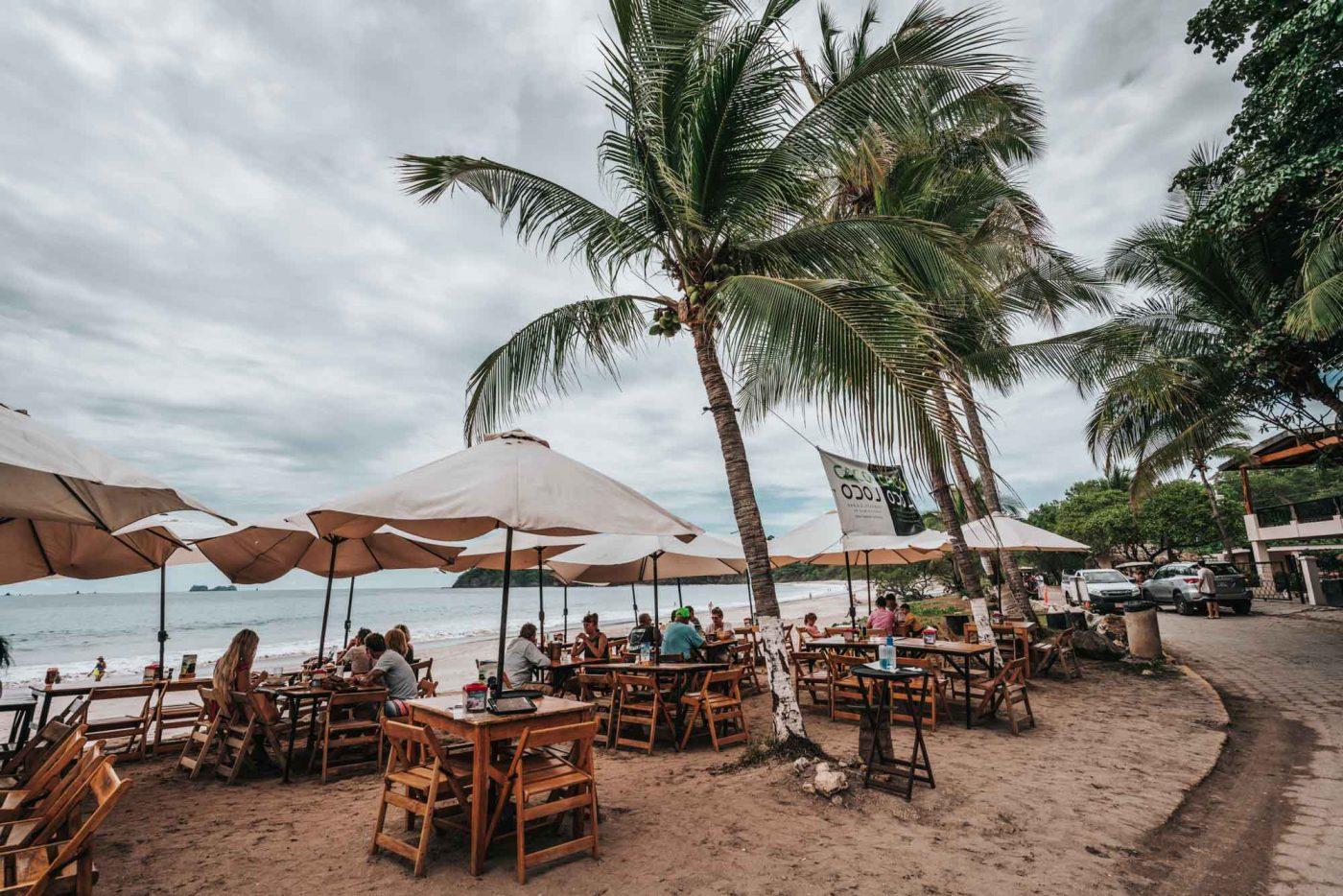 Coco Loco restaurant in Playa Flamingo, Costa Rica