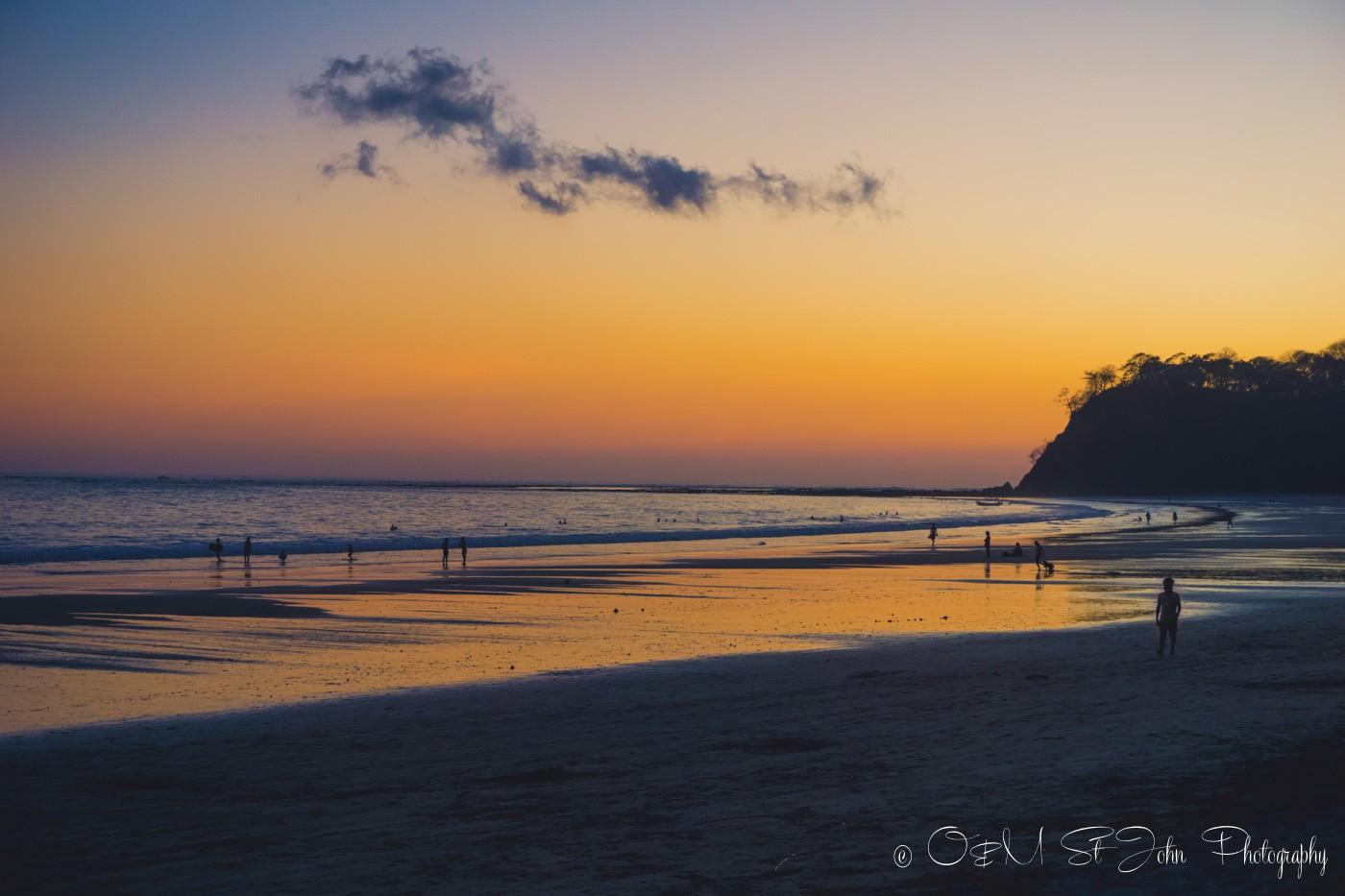 Samara Costa Rica: Sunset on Playa Samara. Guanacaste. Costa Rica