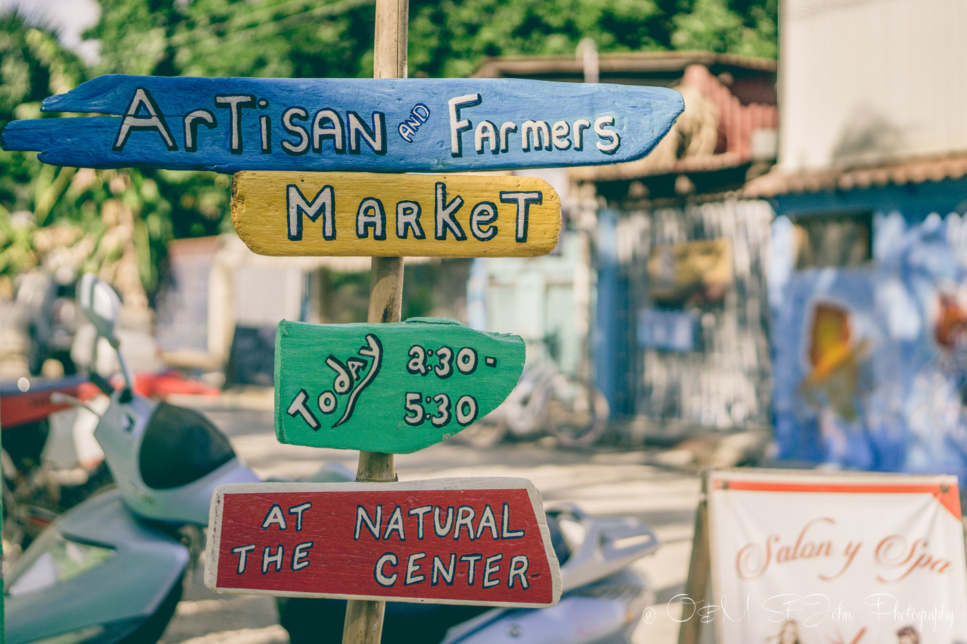 Artisan Market sign in Playa Samara. Guanacaste. Costa Rica
