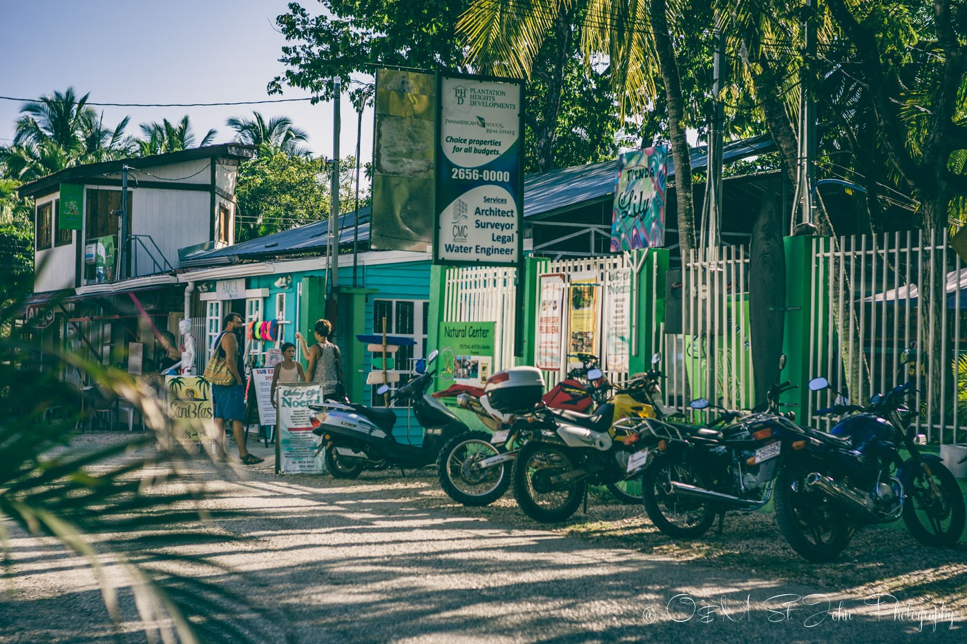 Shops along the street in Samara Costa Rica