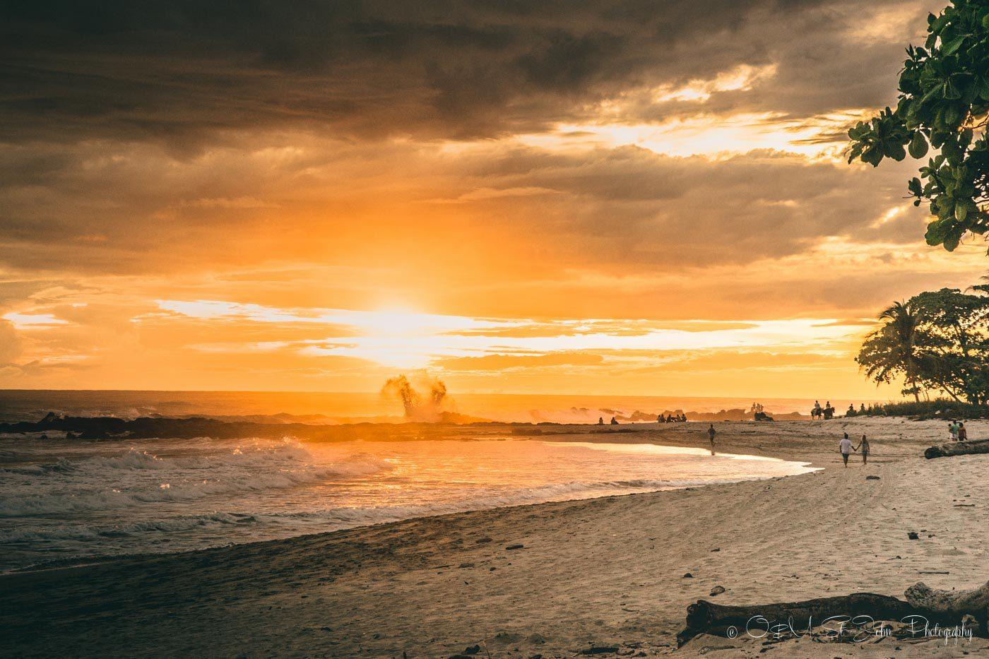 Costa Rica itinerary: Sunset views from Playa Cielo in Santa Teresa, Costa Rica
