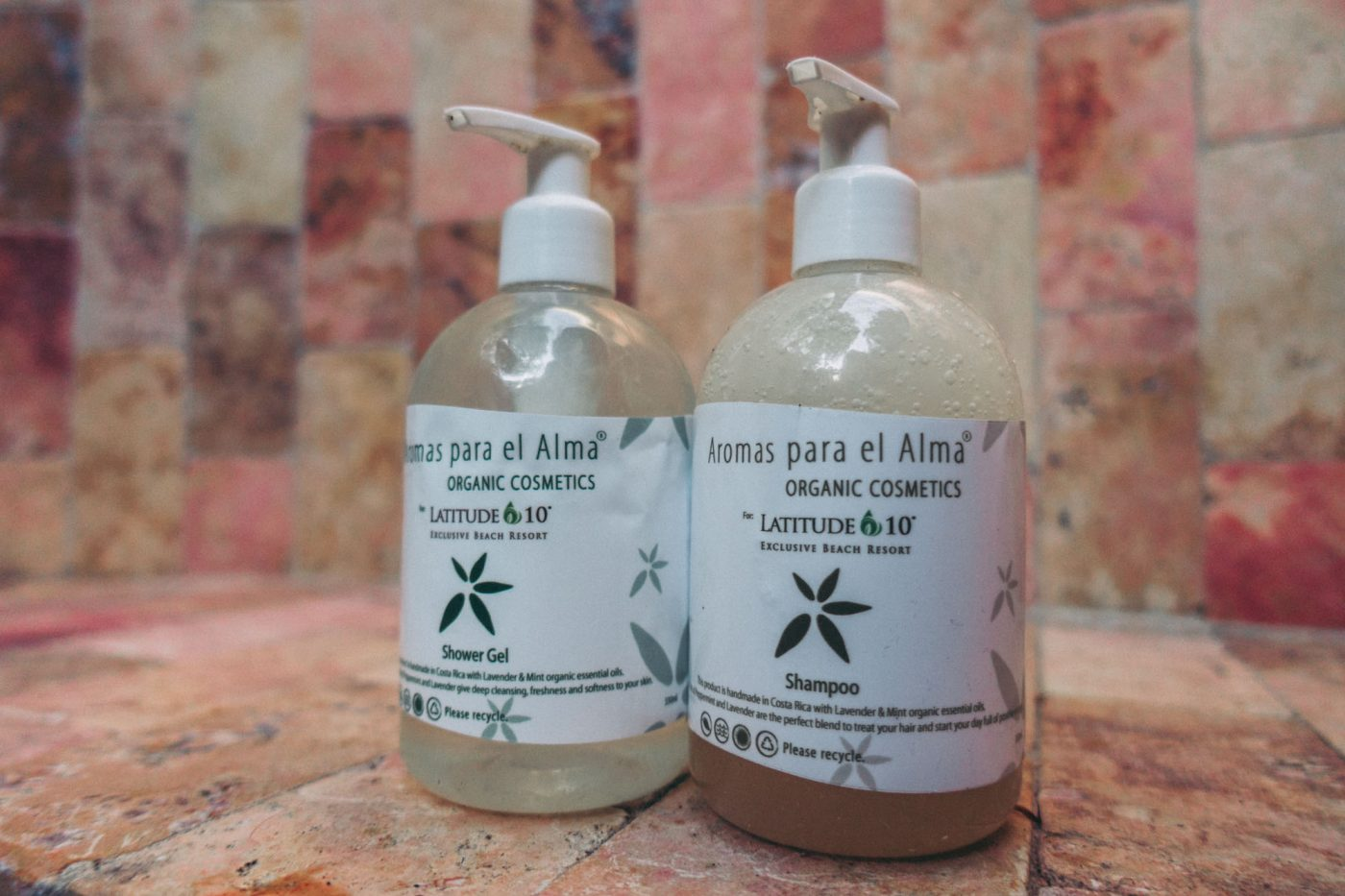 Biodegradable toiletries at Latitude 10 Resort