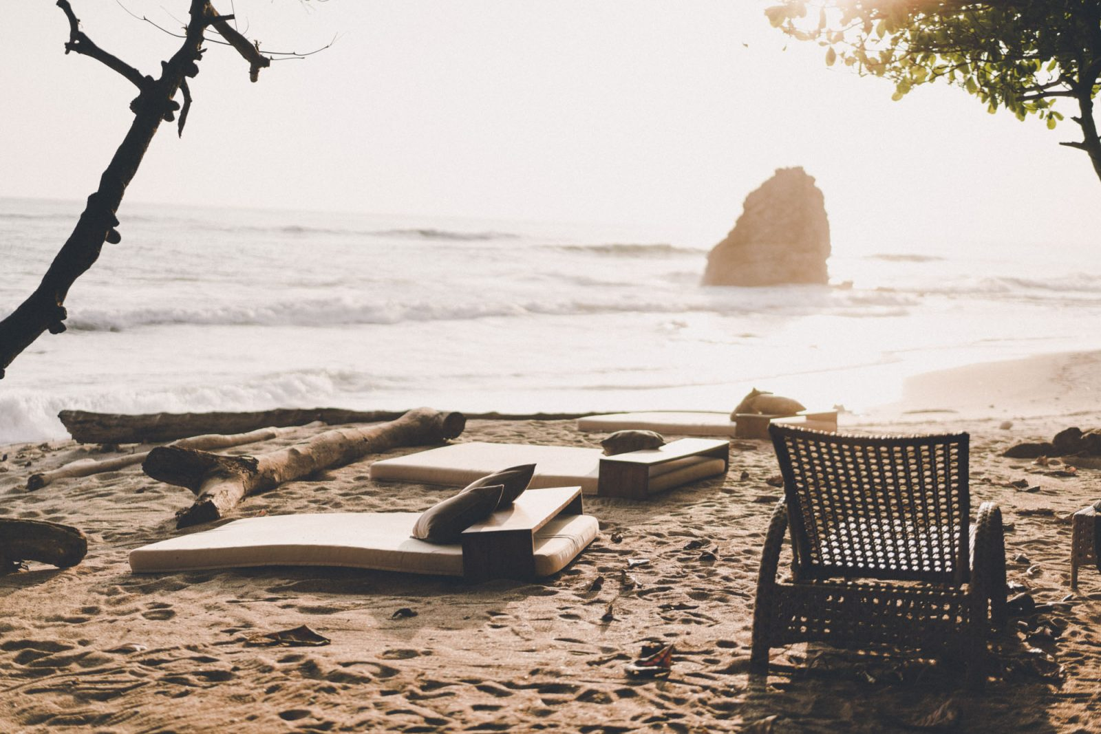 Private beach at Latitude 10 Resort
