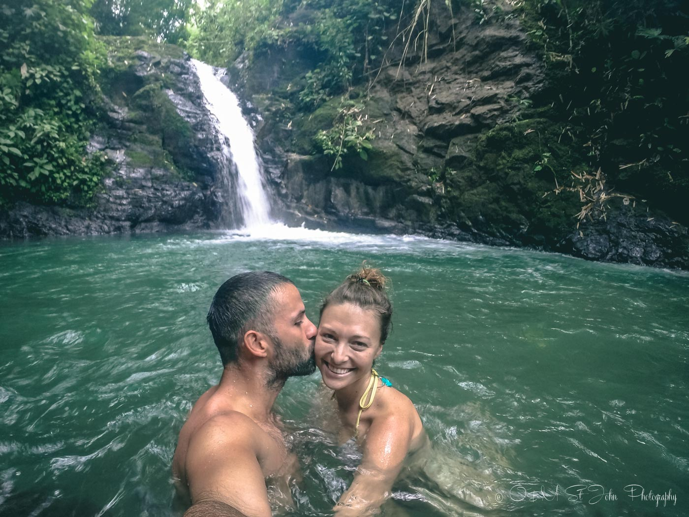 Max & Oksana at Uvita Waterfall in Uvita, Puntarenas, Costa Rica