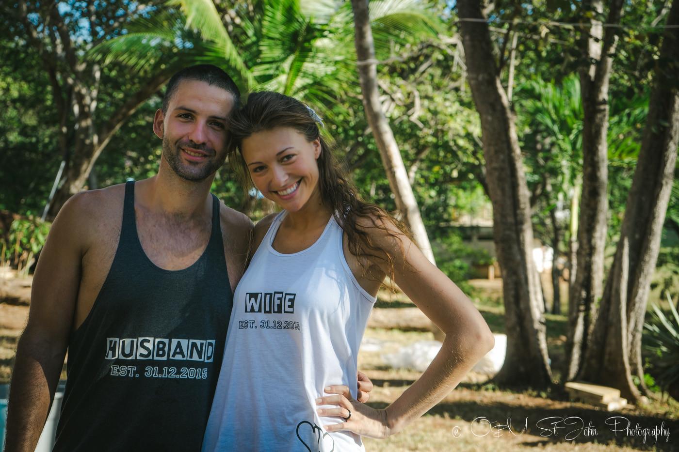 Oksana and Max. Mr & Mrs. Wedding. Costa Rica