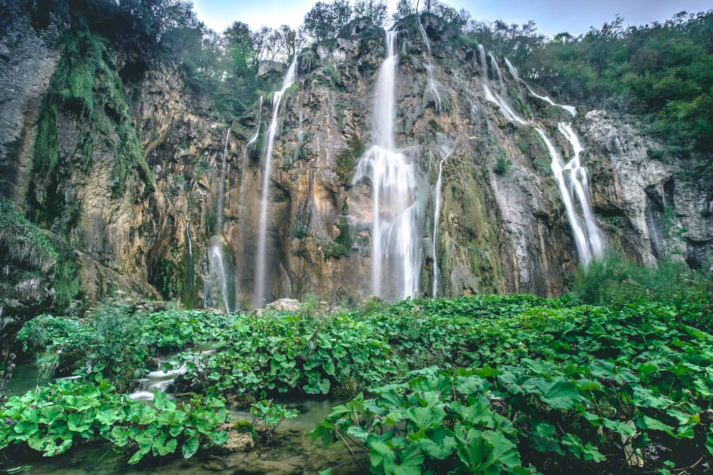 Big waterfall, Plitvice Lakes National Park, Central Croatia