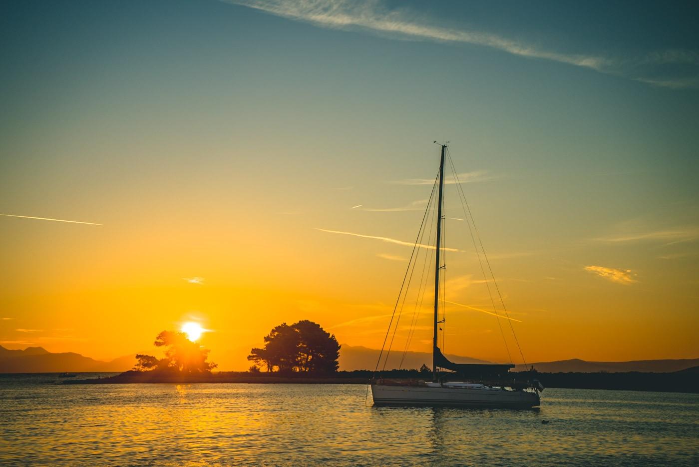 Sunset in the Adriatic Sea